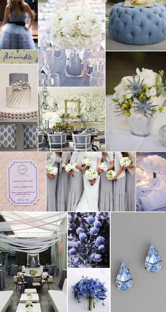 Wedding Color Palette Inspiration Periwinkle And White