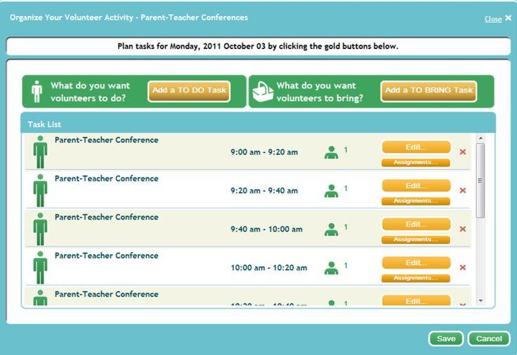 Parent Teacher Conference Online Sign Up Template