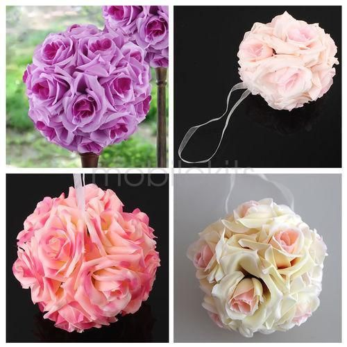 Silk Rose Pomander Flower Kissing Ball Wedding Party Home Decoration --MY8 #Unbranded
