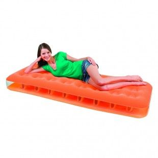 Matelas gonflable 1 personne, lit d'appoint Bestway Fashion Orange 185 x 76 x 22 cm