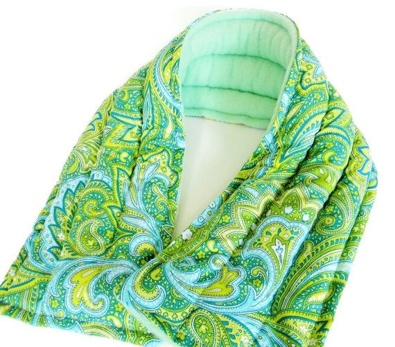 Long Heat Pad Neck Wrap Microwave Heated Bag by theferriswheels