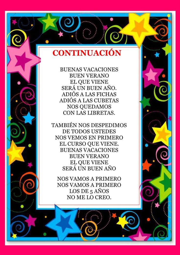 RECURSOS DE EDUCACION INFANTIL: CANCIÓN DE GRADUACIÓN ( Melodía de los LUNNIS)