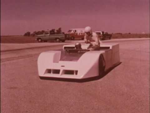 """1970 Jim Hall's new """"ground effects"""" Chaparral car will race in the Can-Am"""