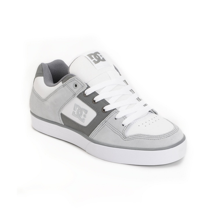Keep your game proper with the DC Pure skate shoe for guys in the armor,  battleship and white colorway. The DC Pure skate shoes feature an extra  grippy ...