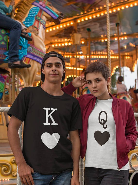 8fe108ea30 King Queen Tees, King and Queen Couple Shirts, Summer Matching Tees ...