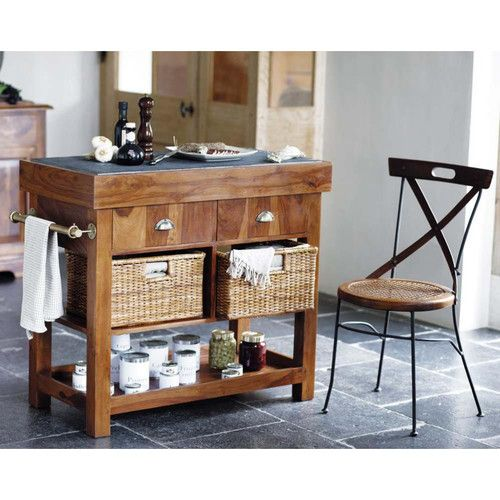 cheap billot en bois luberon maisons du monde with table gigogne maison du monde. Black Bedroom Furniture Sets. Home Design Ideas
