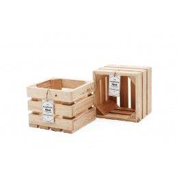 Skrzynka dekoracyjna 202 (20x20x15)  - Naturalne Drewno