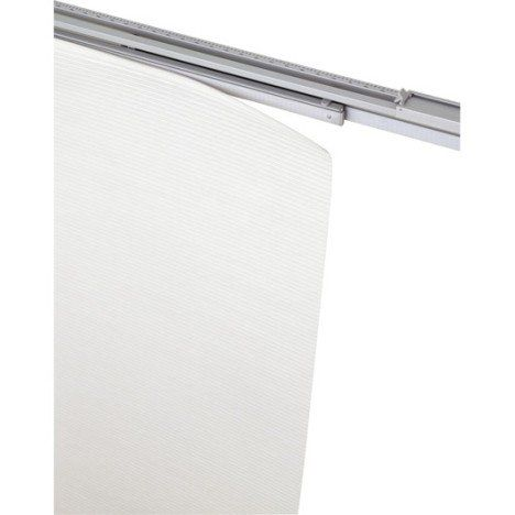 Rail extensible pour panneau japonais, aluminium, blanc, L.140/230 cm