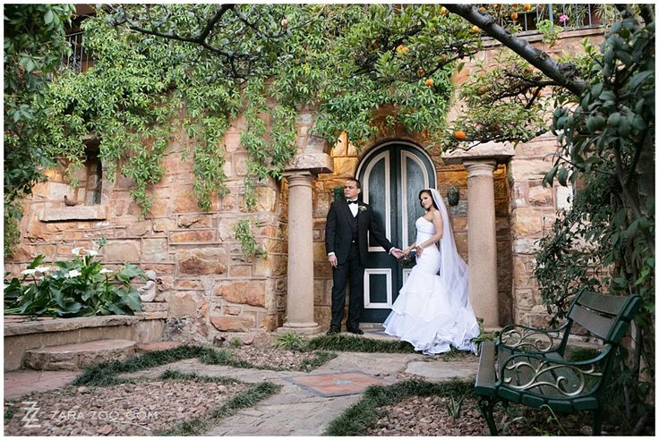 Wedding Couple photo in the garden at Shepstone Gardens in Johannesburg