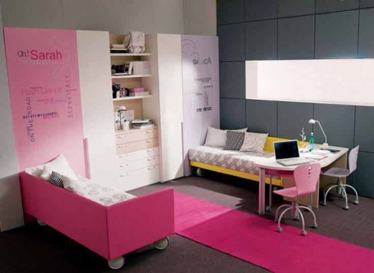 Modern Decorative Teen Girls Bedroom Designs By Dielle Pink