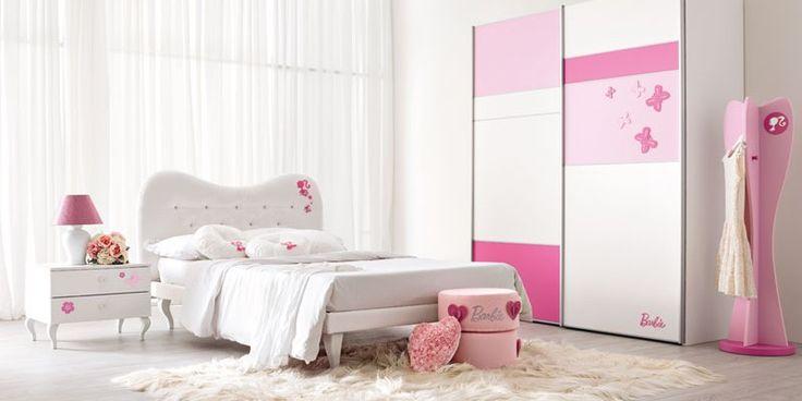 Composiciones para cuarto de niña Barbie Diamond 120. Muebles de servicio, camas, armarios. #dormitorio para #niñas de #Barbie - Doimo Cityline Encuentralo en Pasión D Casa Costa Rica https://www.facebook.com/pasionDcasa