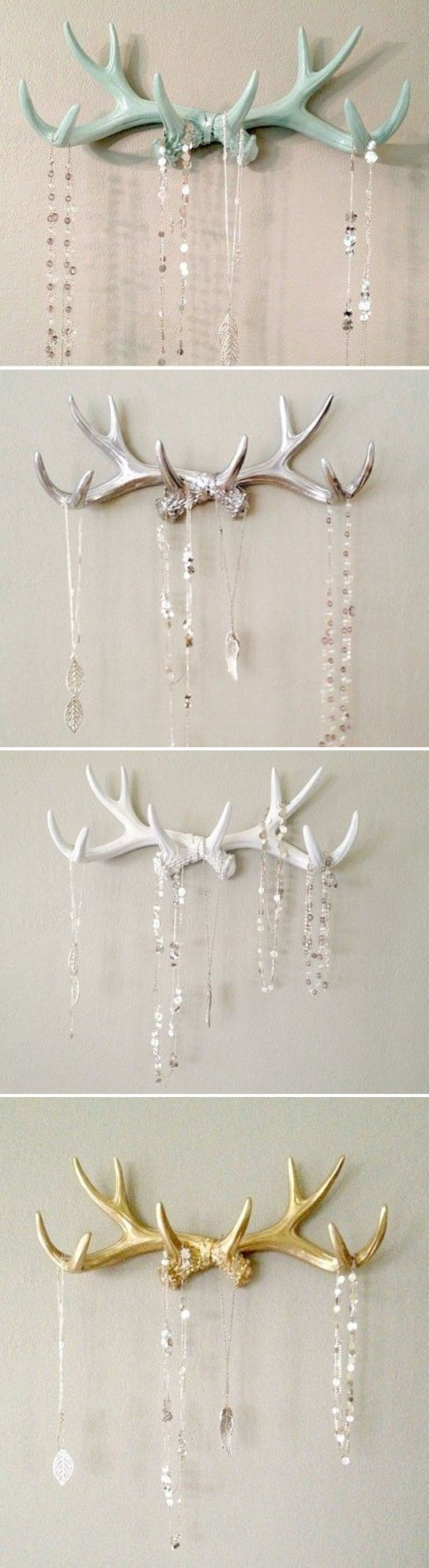 awesome SILVER Faux Deer Antler Rack                                                                                                                                                                                 More