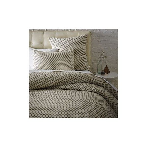 West Elm Jacquard Leaf Duvet Cover, Twin, Onyx/White - Duvet Covers -... ($80) ❤ liked on Polyvore featuring home, bed & bath, bedding, duvet covers, grey, white pillow shams, white twin duvet, west elm duvet, black white bedding and gray duvet