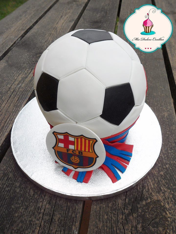 Tarta balón del Barça