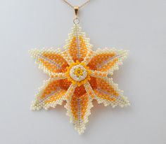 Tutorial Aviana Flower Pendant-Beading Tutorials and Patterns by Ellad2,