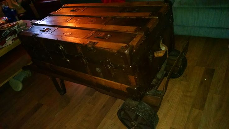 Chest on hand cart coffee table