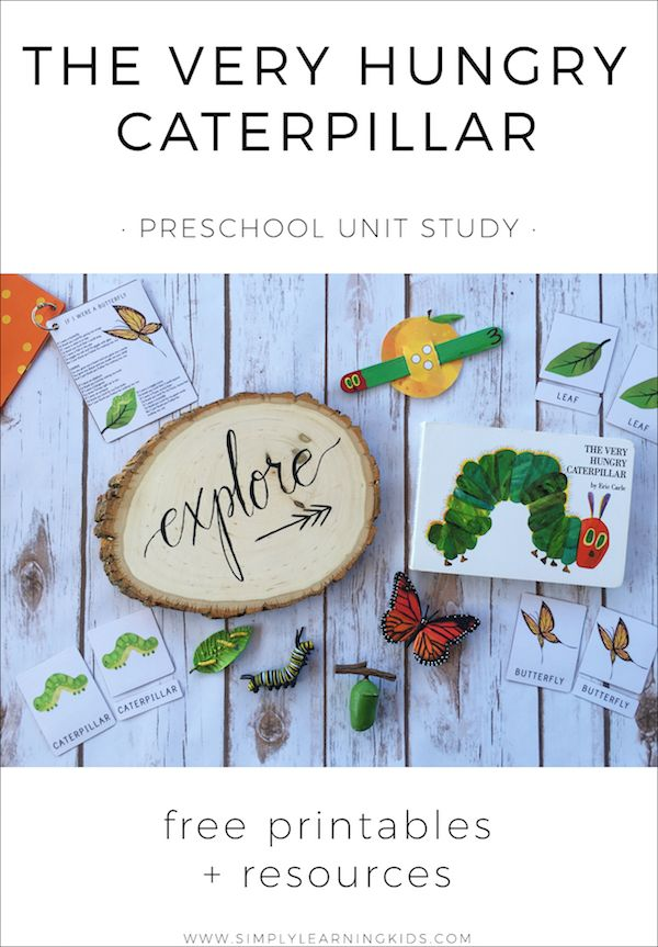 The Very Hungry Caterpillar Preschool Unit - Simply Learning