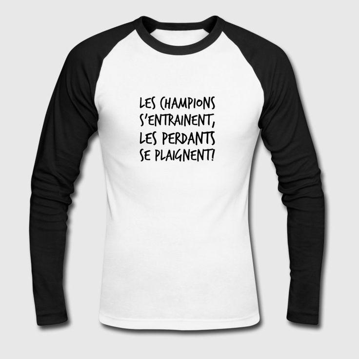 Tee shirt à manches longues homme citation de motivation.#teeshirt   #citation #motivation #inspiration #sport #été #summer # mode #homme #musculation #training