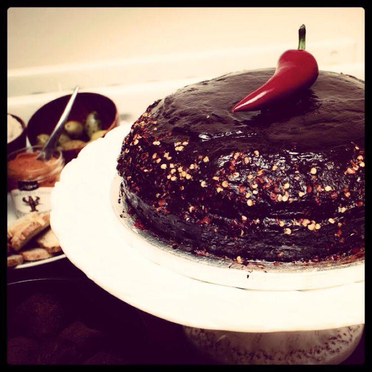 Chilli chocolate cake. Sweet&spicy :)