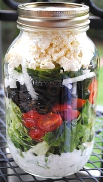 mediterranean salad in a jar