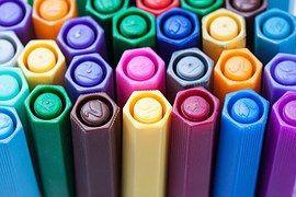 Colored Pencils, Felt Tip Pens, Color