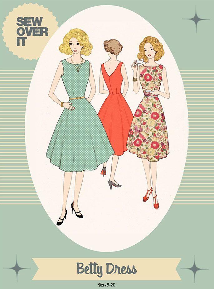 Sew Over It - Betty Dress   Brave Fabrics