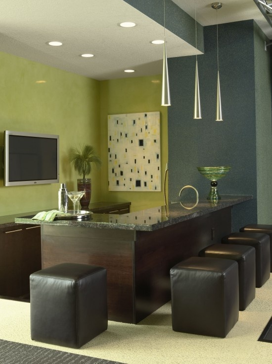 Awesome Modern Bar   Would Be So Fun In A Finished Basement!