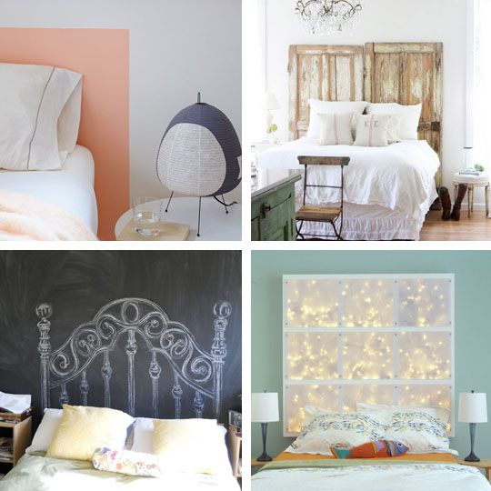diy headboards. from apartment therapy.