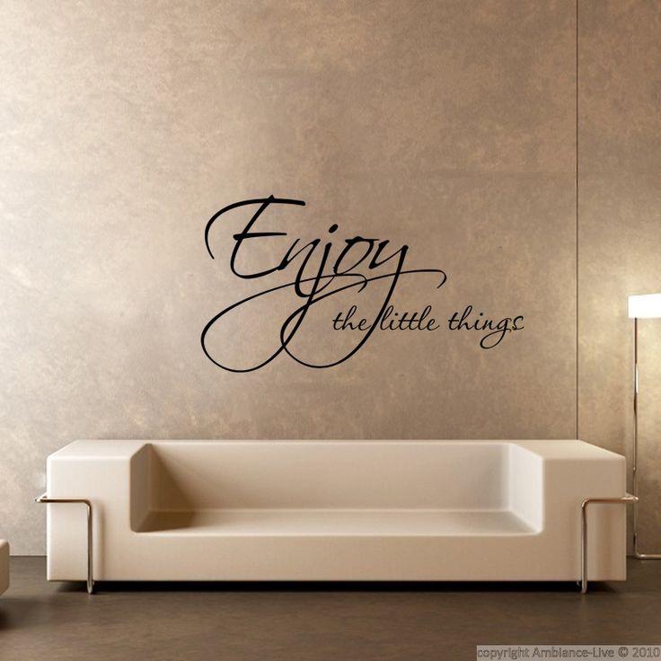 Stickers muraux citations - Sticker Enjoy things | Ambiance-sticker.com