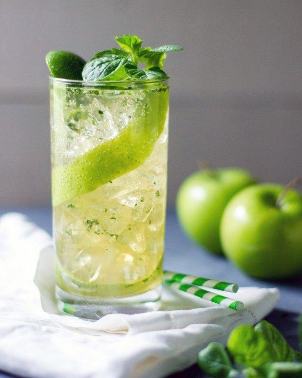 Apple Mojito by Sam Henderson at chasingdelicious.com. Get more delicious at @chasedelicious.
