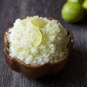 This delicious and tropical coconut lime rice recipe is light, fluffy, and full of coconut and lime flavor. Perfect side dish for chicken, fish or shrimp.
