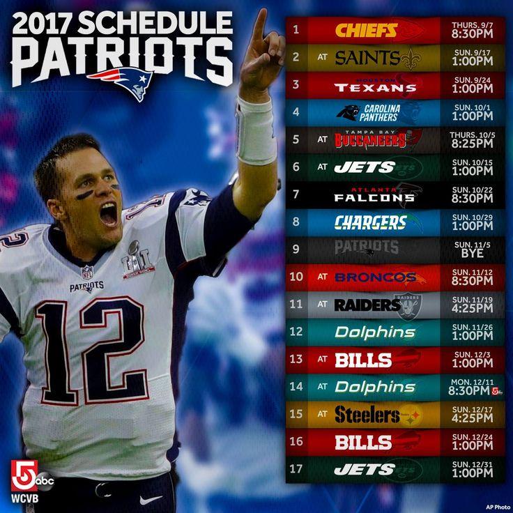 2017 Patriots Schedule https://www.fanprint.com/licenses/new-england-patriots?ref=5750