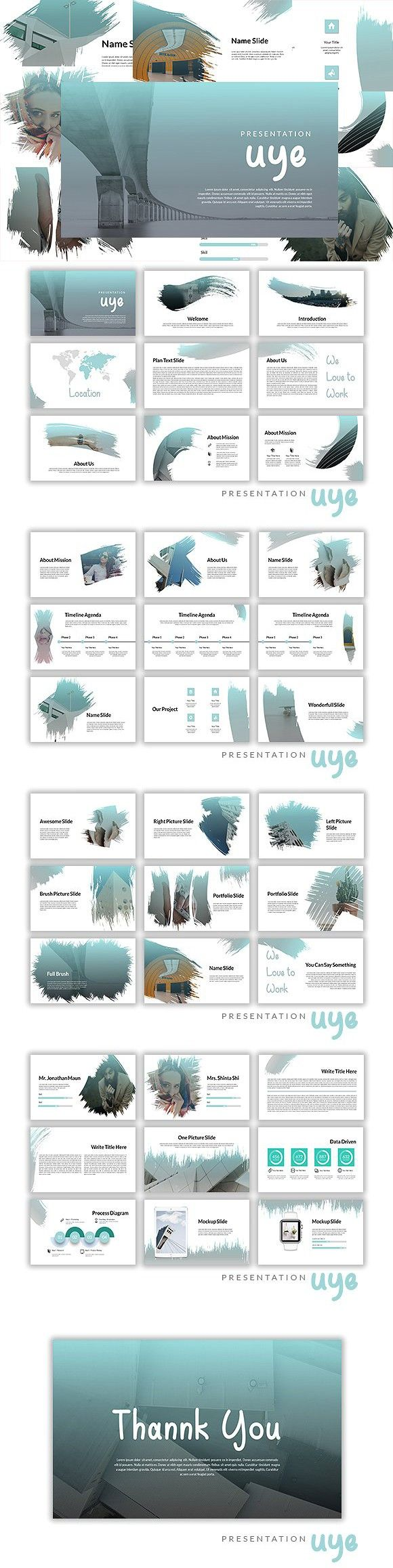 Uye Powerpoint Template | ONLY $10. Presentation Templates