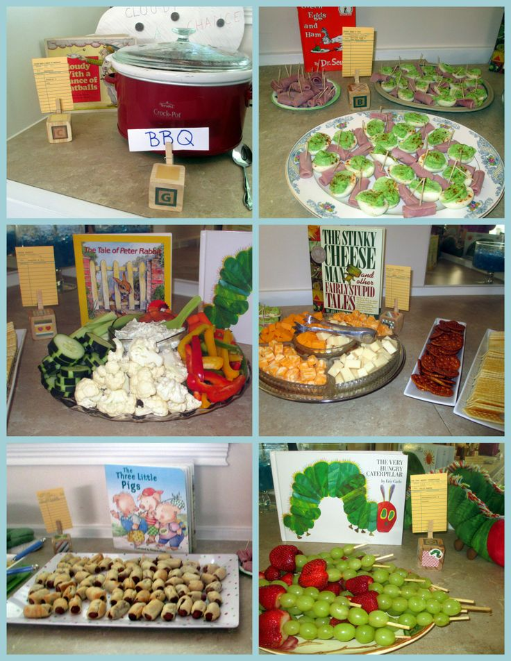Good Childrenu0027s Books Themed Party Food. Book ShowerBook Baby ...
