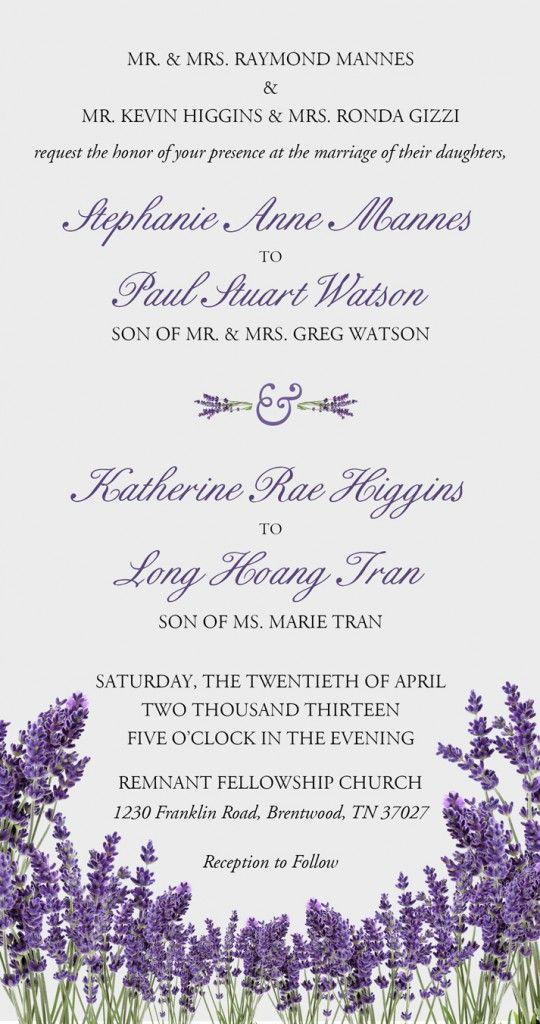 Double Wedding Invitations Party Boards Double Wedding Wedding