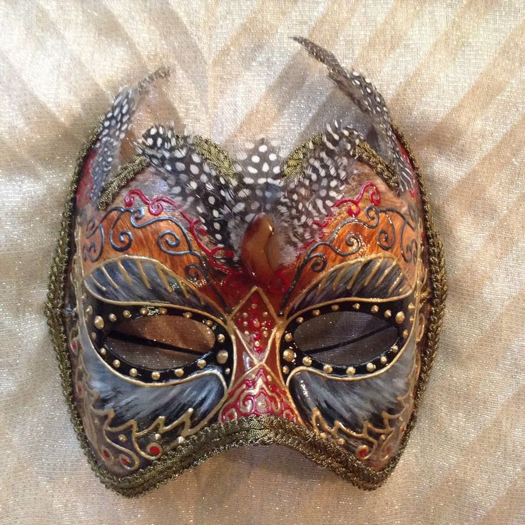 """Venetian costume mask handmade, wearable, wall decoration, in golden shades brown and black, """"Owl mask"""" by EthnicDrops on Etsy https://www.etsy.com/listing/269301180/venetian-costume-mask-handmade-wearable"""