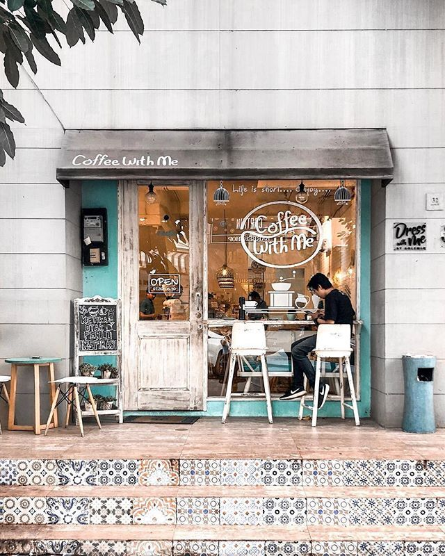Ready For Warm Weather For Coffee Outside Via Lydiaoey Follow Tag Coffeesesh To Be Featured Coffees Cafe Shop Design Coffee Shop Design Coffee Shop