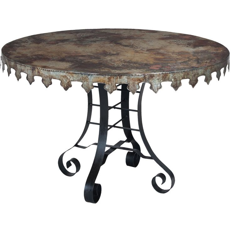 GuildMaster Reclaimed Tin 47-Inch Bistro Table 715051