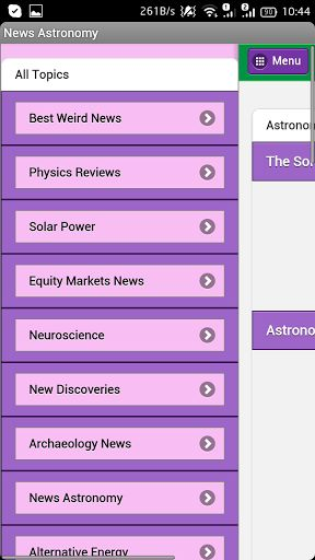 News Astronomy – free news application that helps you be alert to everyday Astronomy news. <p>You don't have to waste your time trying to find this or that information in the world - all you have to do is to swipe your finger to upload the latest news con