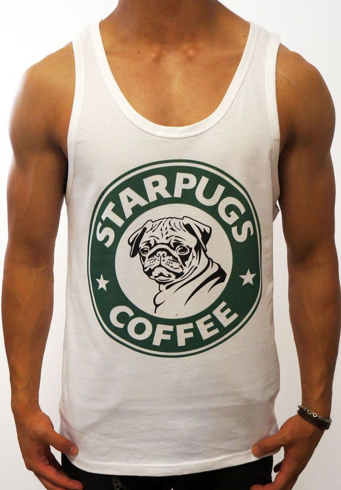 Details about NEW MENS WHITE SINGLET STAR PUGS TANK TOP ...