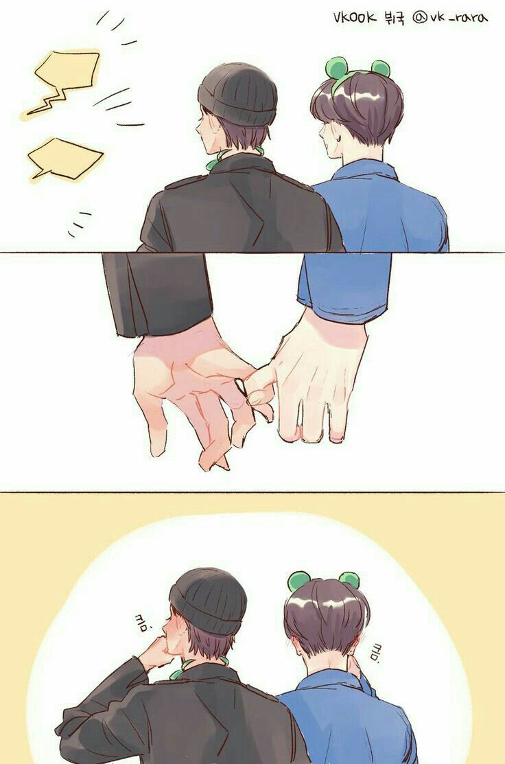 Vkook Cute Wallpaper Taekook Fanart ♡ Taekook Vkook E Jikook