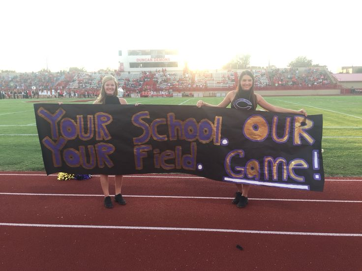 High School football spirit sign