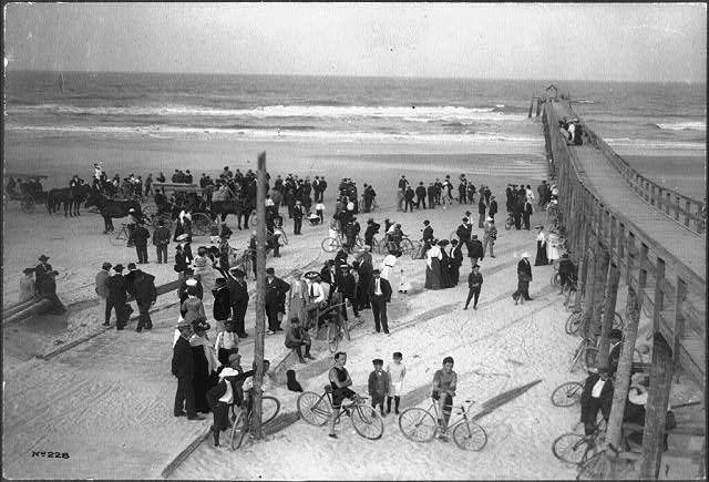 Bicycle Race At Keating S Pier Daytona Beach Florida