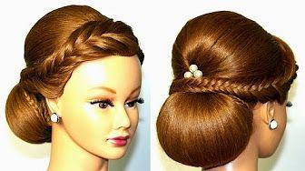 Прическа.: Хвост с ажурной косой. Easy braided hairstyle for long hair - YouTube
