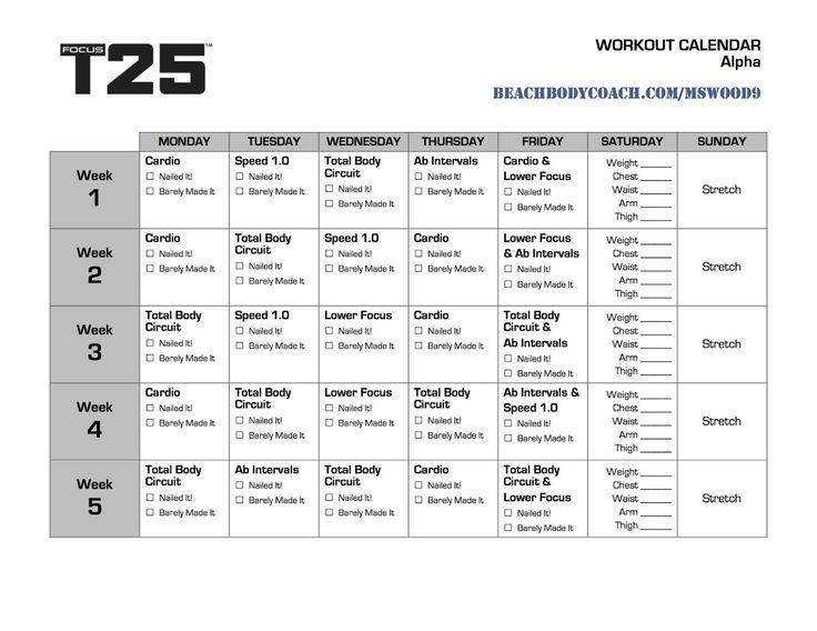 T25 Work Out Calendar Printable | Focus T25 calendar, Focus T25 schedule, Focus T25 workout calendar ...