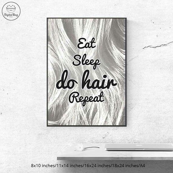 Hair Salon Wall Art Gift For Hairdresser Hair Salon Print Poster