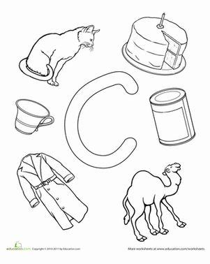 Preschool The Alphabet Letter C Worksheets: C Is For...