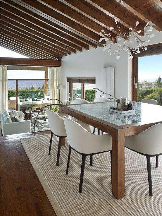 M s de 25 ideas fant sticas sobre casas r sticas modernas - Muebles estilo rustico moderno ...