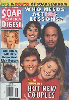 Soap Opera Digest 1995 March 14 Sydney Penny Kelly Ripa Keith Hamilton Cobb