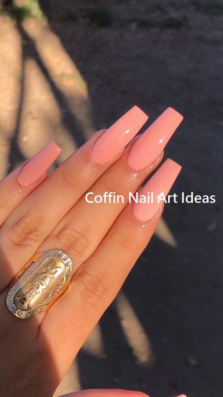 20 Trendy Coffin Nail Art Designs Nail Diy Acrylic Nails